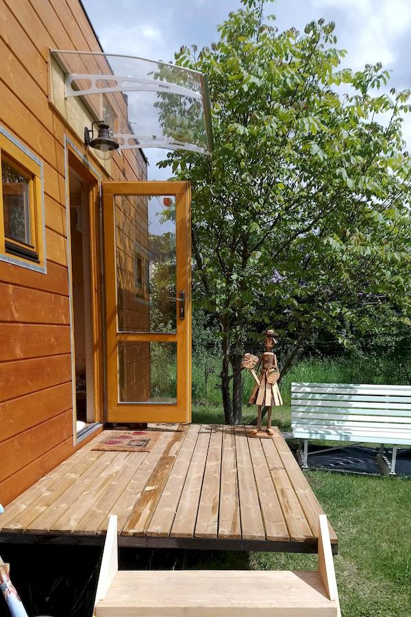 La TinyHouse de Solange: La Terrasse