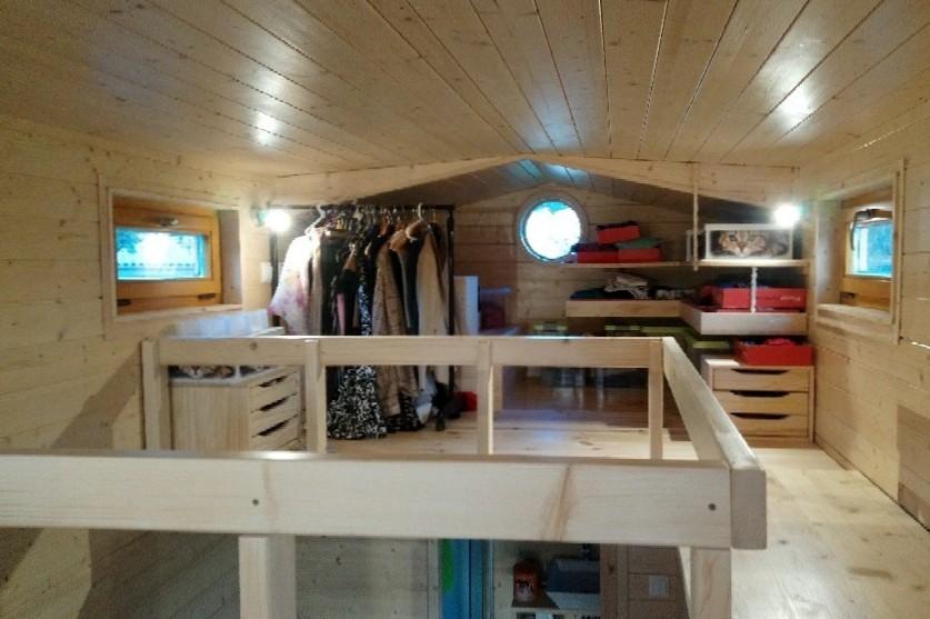 La TinyHouse de Solange: La Mezzanine Dressing